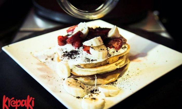 """Από 4,20€ για να απολαύσετε κρέπα ,κρεπάκι,σαλάτα ή pancakes, από το """"Krepaki espresso kantina"""" στo Κέντρο"""