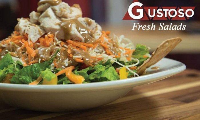 """4€ για να απολαύσετε 1 spaghetti ή 1 σαλάτα της επιλογής σας από τον πλούσιο κατάλογο, στο """"Gustoso"""" στo Κέντρο"""