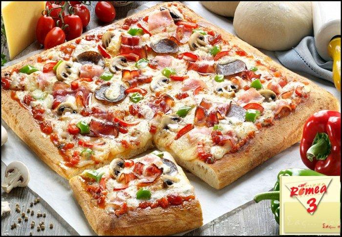 5,90€ για μία ή 11€ για δύο ή 14,50€ για τρείς μεγάλες χειροποίητες τετράγωνες πίτσες ελεύθερης επιλογής από τον κατάλογο