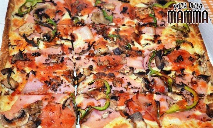 6,70€ για μία πεντανόστιμη μεγάλη χειροποίητη τετράγωνη πίτσα 16 κομματιών ελεύθερης επιλογής από τον κατάλογο